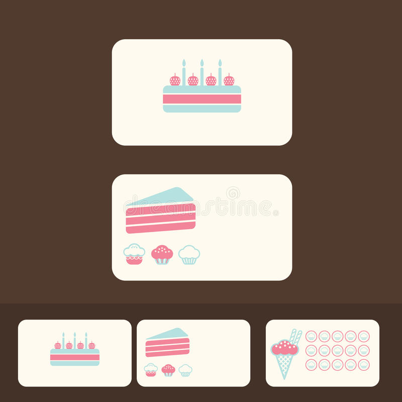 Download Vector Cakes Business Cards, Discount And Promotional Cards Stock Vector - Image: 28670824