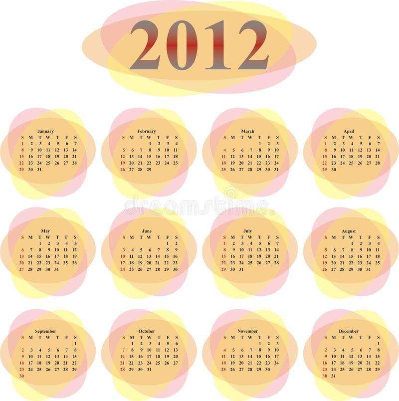 Download Vector calendar 2012 stock vector. Image of vector, oval - 22507318