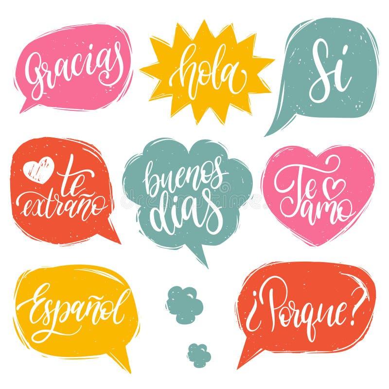 Spanish Words Stock Illustrations – 1,173 Spanish Words Stock ...
