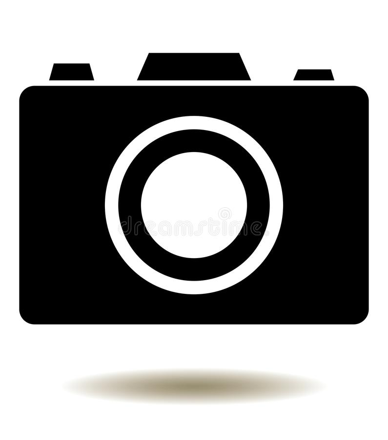 Vector Camera Icon Isolated On White Background royalty free illustration