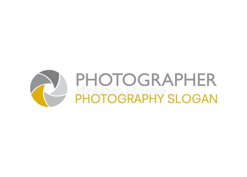 Vector - Camera shutter logo, isolated on white background. Vector illustration. stock illustration