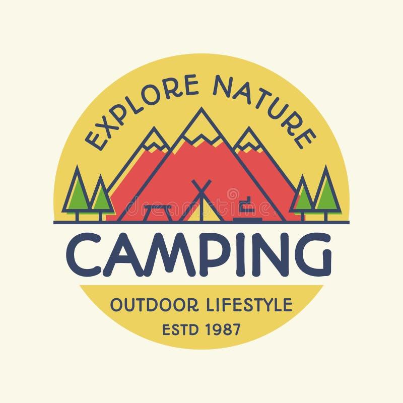Camping, Climbing Logo Or Label. Hike, Camp Emblem