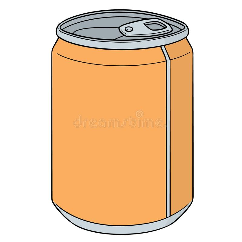 Vector of can. Hand drawn cartoon, doodle illustration stock illustration