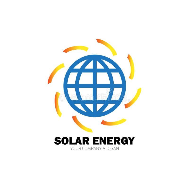 Solar energy for alternative energy vector illustration