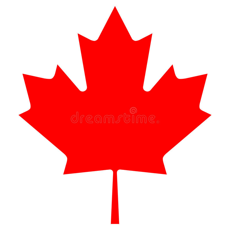 Vector Canadian Maple Leaf Icon. Maple leaf isolated illustration. Vector Canadian Maple Leaf Icon vector illustration