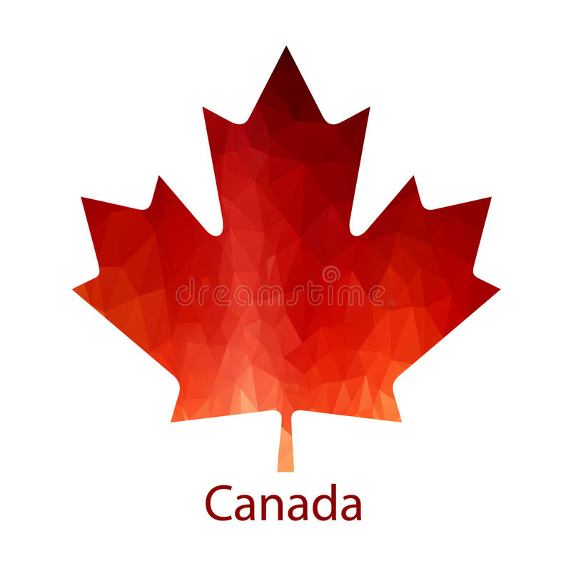 Vector Canadian Maple Leaf Icon. Simple maple leaf royalty free illustration