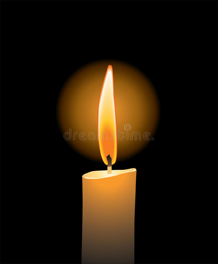 Free Vector Candle Love Royalty Free Stock Photography - 9876467