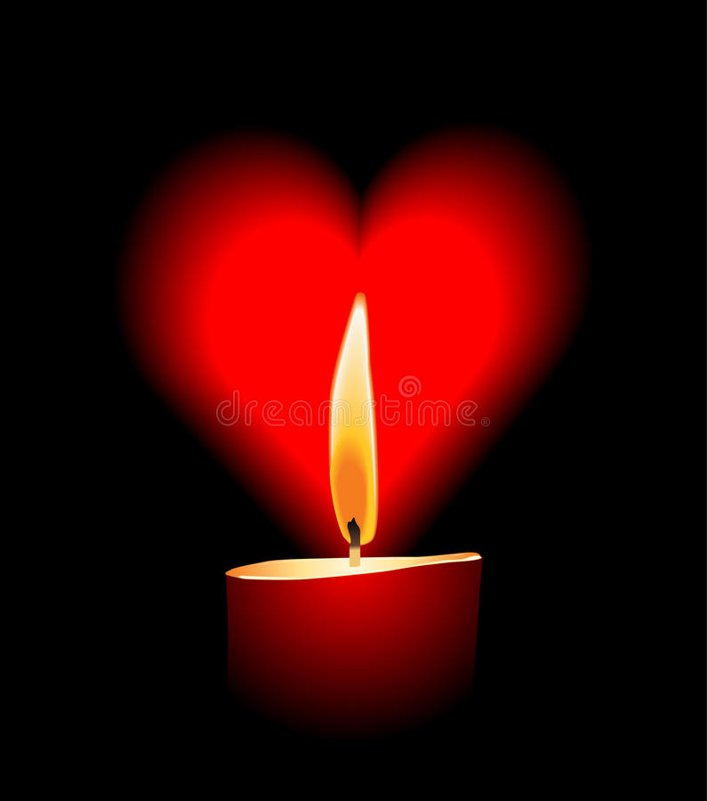 Vector candle love stock illustration