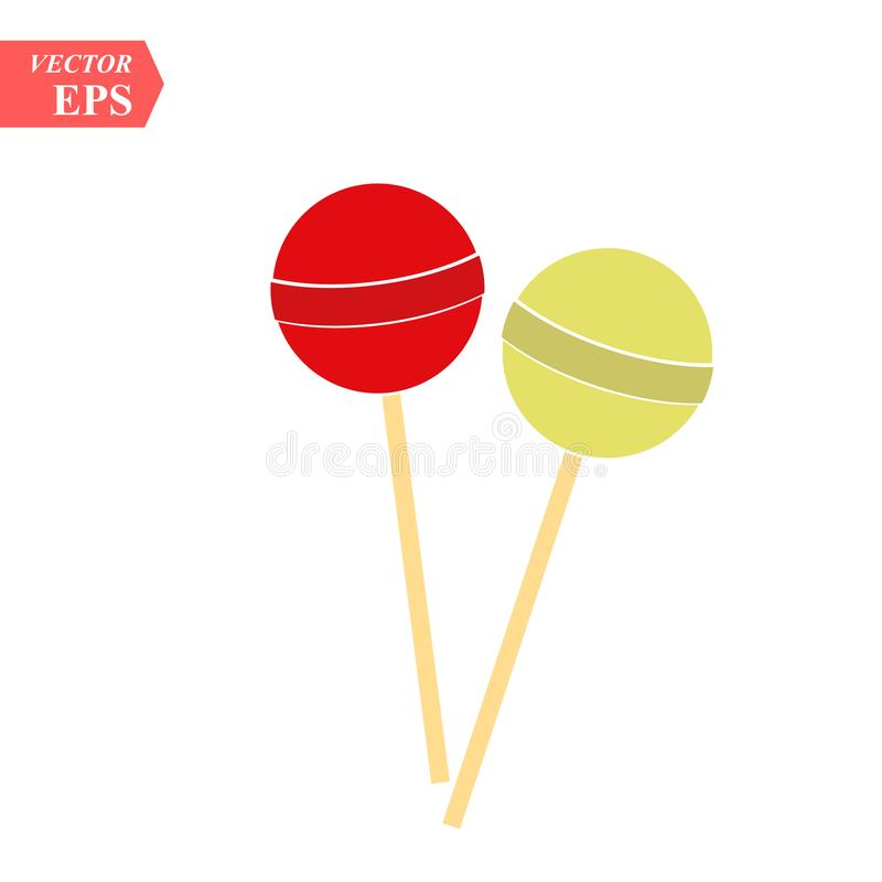 Vector candy icon. Chupa Chups Icon. lollipop isolated on white background, Vector. eps10. Vector candy icon. Chupa Chups Icon. lollipop isolated on white vector illustration