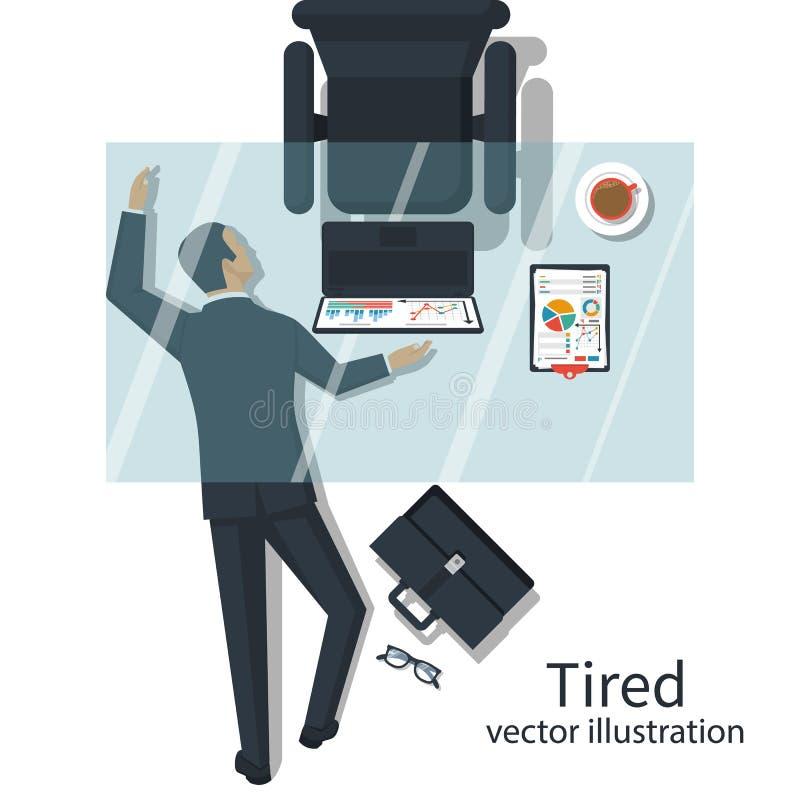 Vector cansado del concepto ilustración del vector