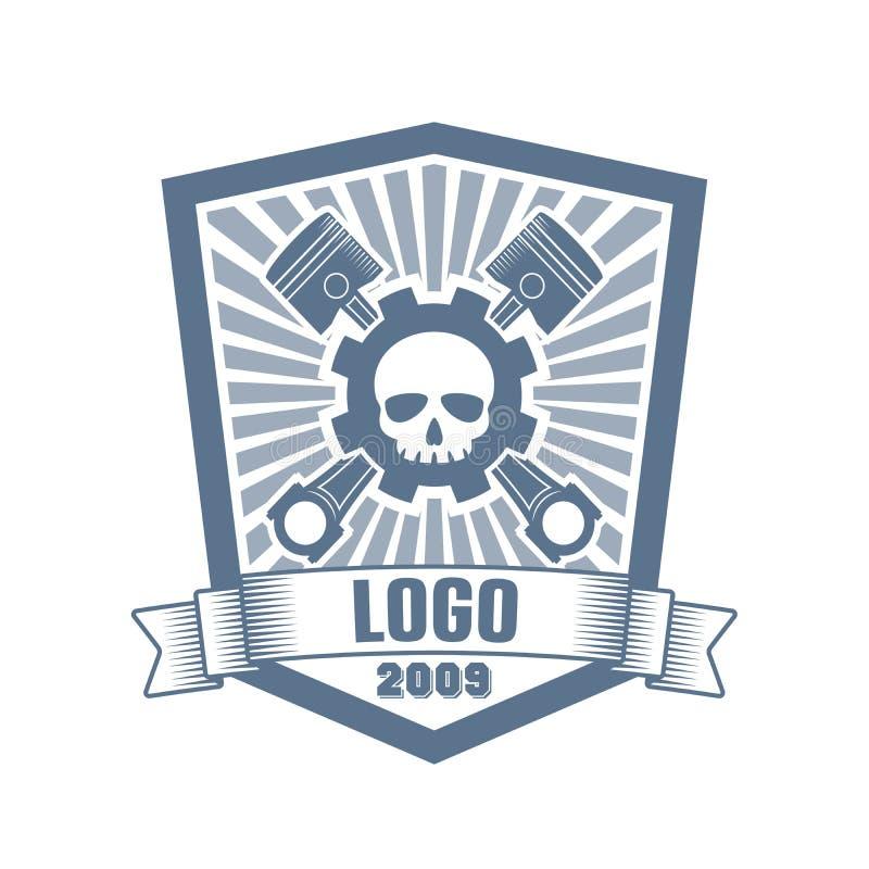 Vector car customizing company logo royalty free stock photo