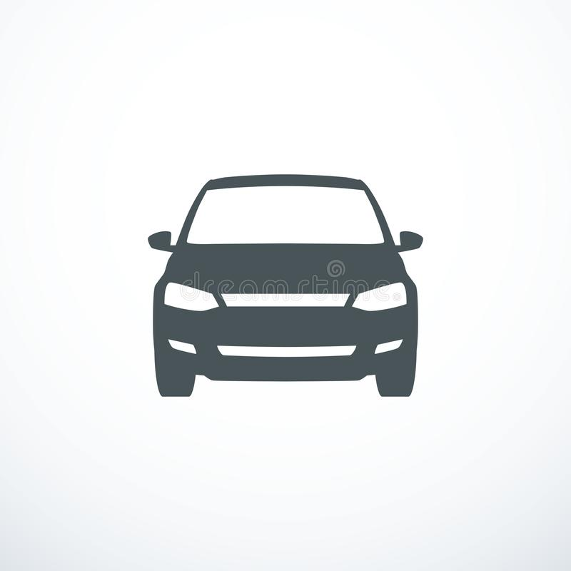 Vector car icon. Front view. Vector illustration. Eps 10 royalty free illustration
