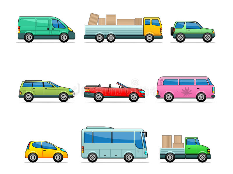 Vector car icons royalty free illustration