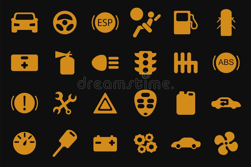 Vector car icons set. royalty free illustration
