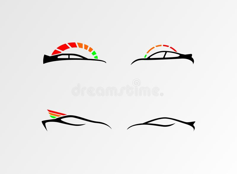 Vector of Car Logo Colellection, Simple Car Logos. Is a good logo design for club or business vector illustration