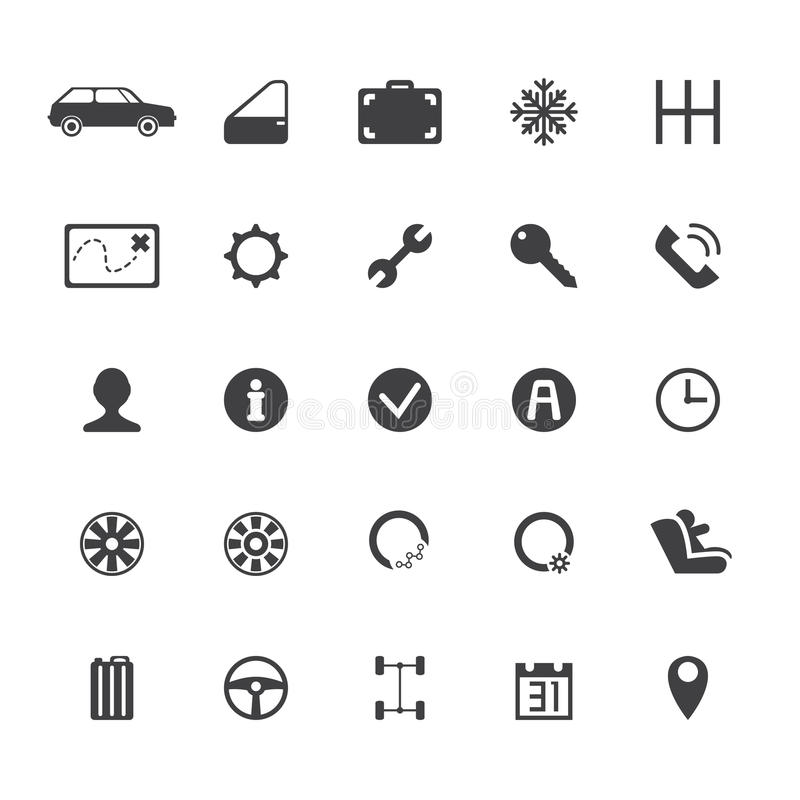 Vector car rental icons royalty free stock image