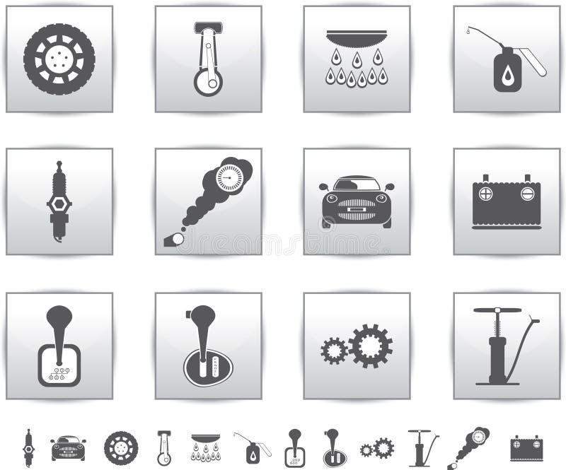 Download Vector Car Set Icons. Auto Service Square Stock Vector - Illustration of design, symbol: 26617691