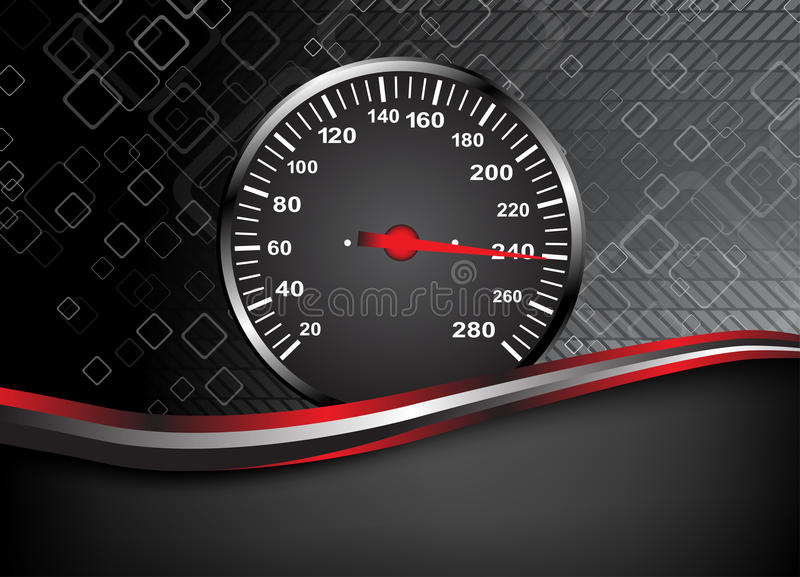 Vector car speedometer. Abstract background stock illustration