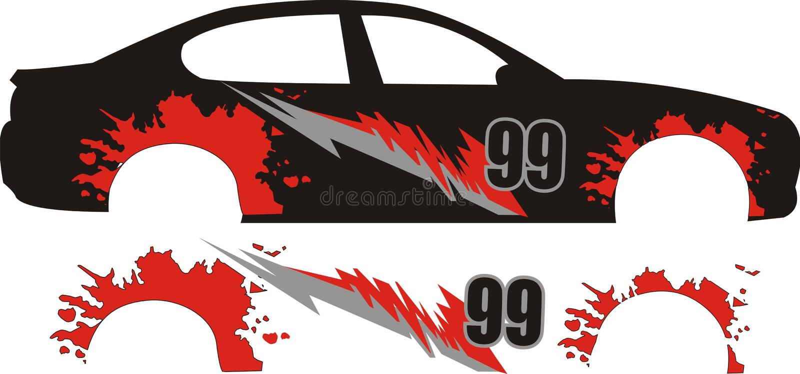 Car sticker designs vector