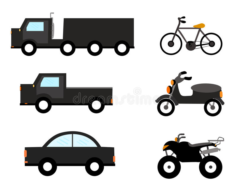 Vector Car Symbols Stock Illustration Illustration Of Motorcycle