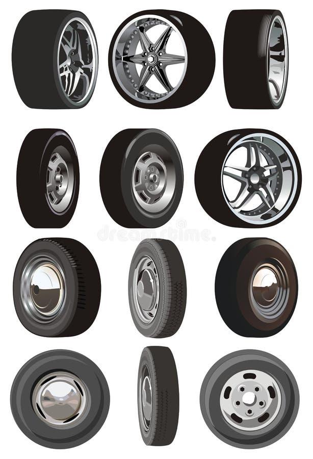 Free Vector Car Wheels Set Royalty Free Stock Photo - 5796815