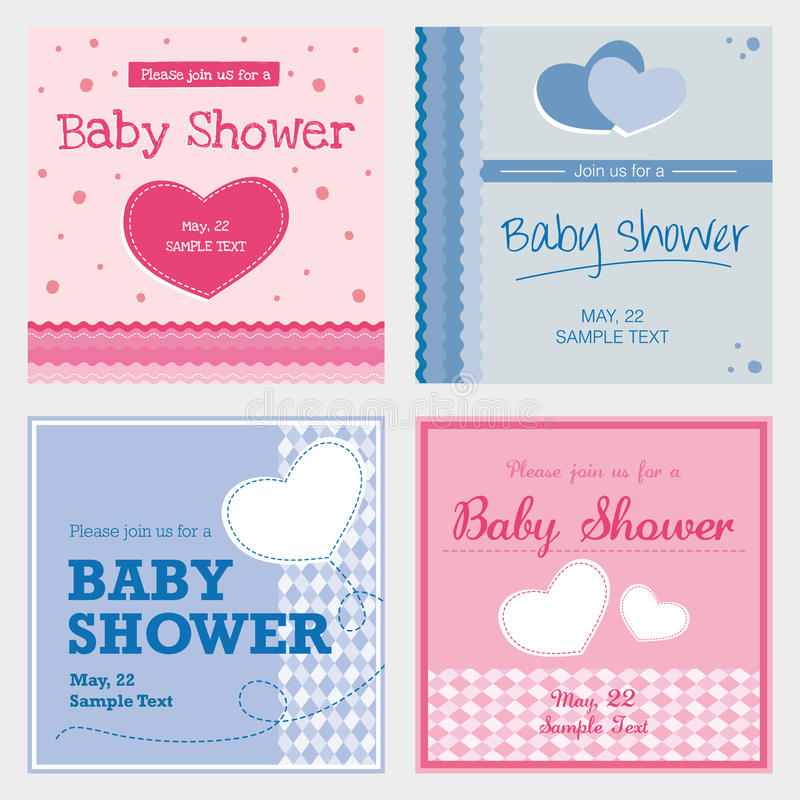 Free Vector Card Baby Shower Royalty Free Stock Photo - 47873735