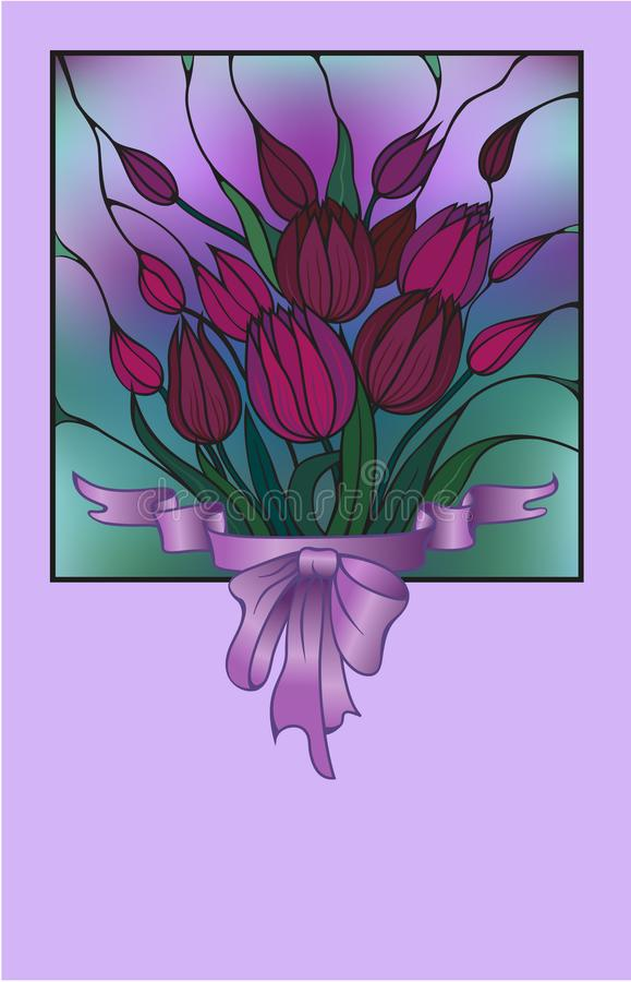 Vector card with bouquet of flowers
