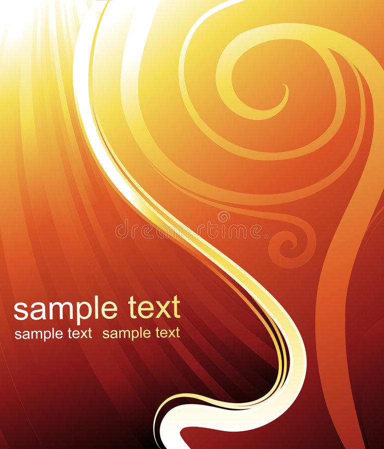 Vector card design. Sun-rays waves and spirals- vector illustration royalty free illustration