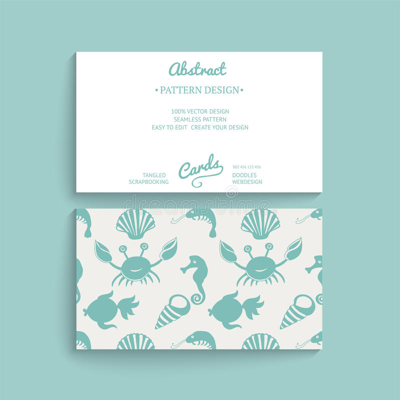 Vector Card Design. Vector Business Card Template With Decorative ...