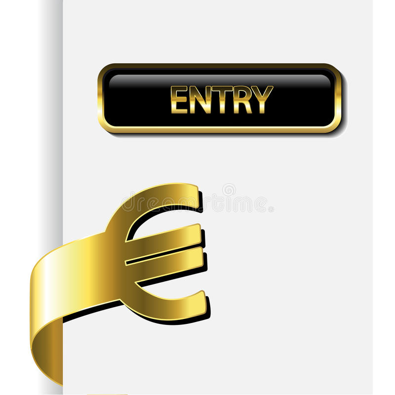 Vector Card With Financial Activity Royalty Free Stock Images