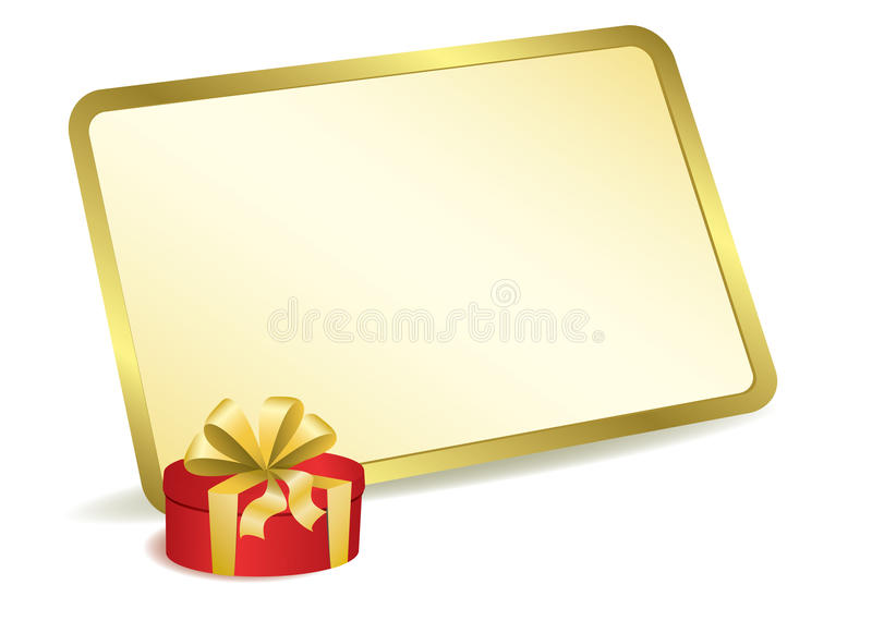 Vector Card For Greeting With Red Box Stock Photos