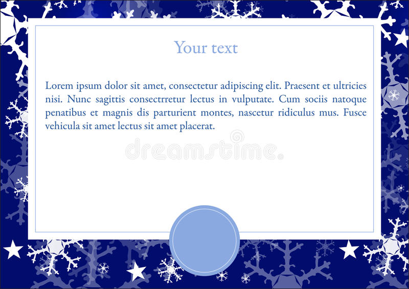Vector card with Winter background vector illustration