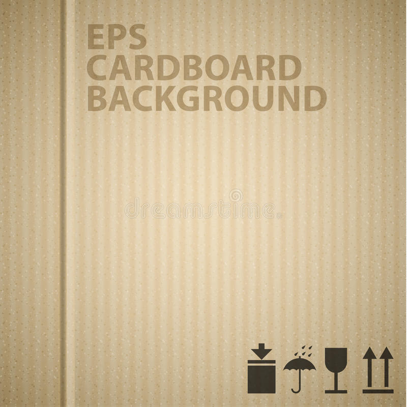 Vector cardboard background texture royalty free illustration
