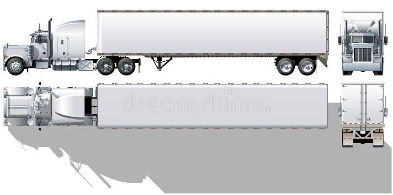 Vector cargo semi-truck stock illustration