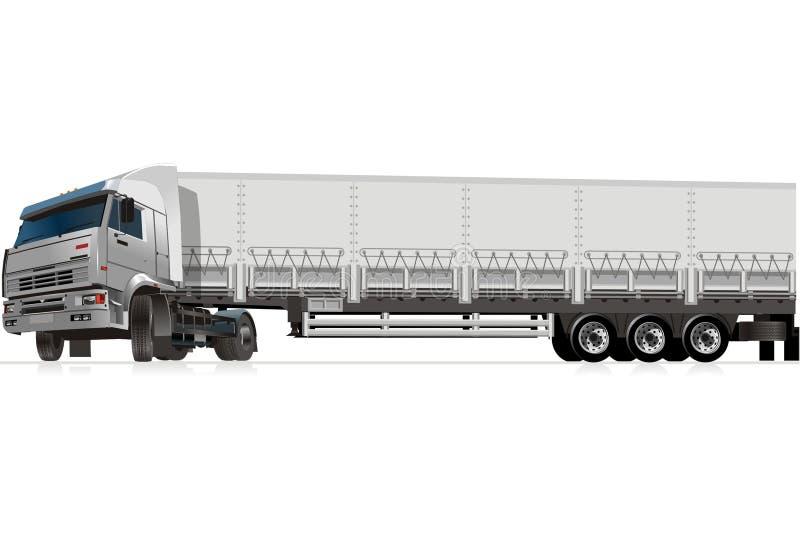 Vector cargo semi truck