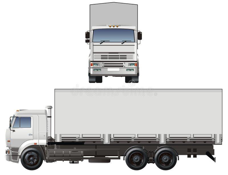 Vector cargo truck royalty free illustration