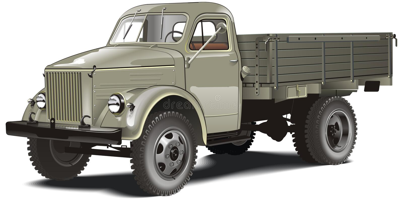 Vector cargo truck isolated vector illustration