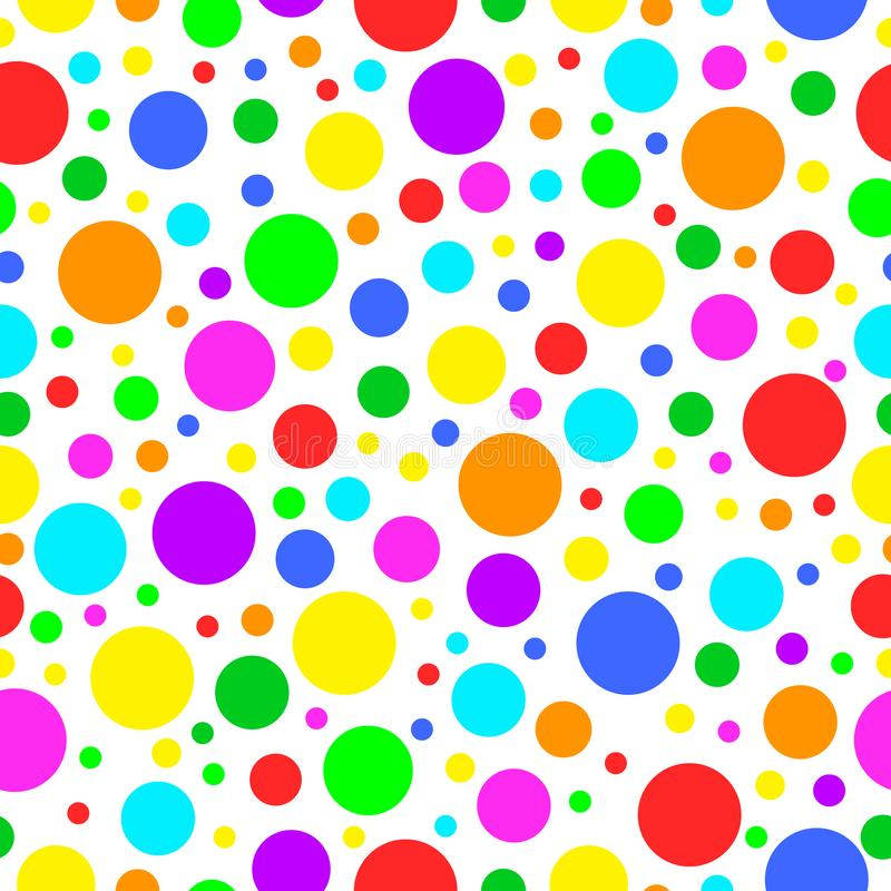 Vector carnival seamless colorful pattern. Kids festive background with confetti. Happy Birthday, Party decor royalty free illustration