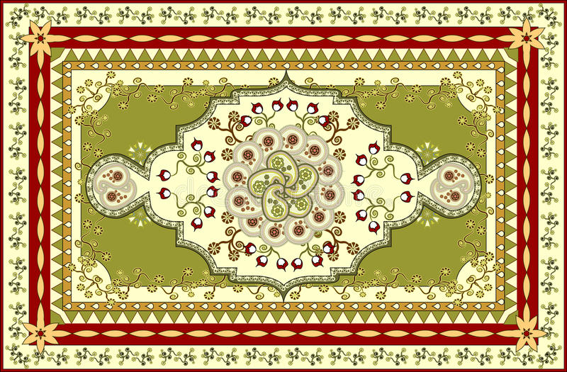 Download Vector carpet stock vector. Image of paisley, flat, colorful - 15400578