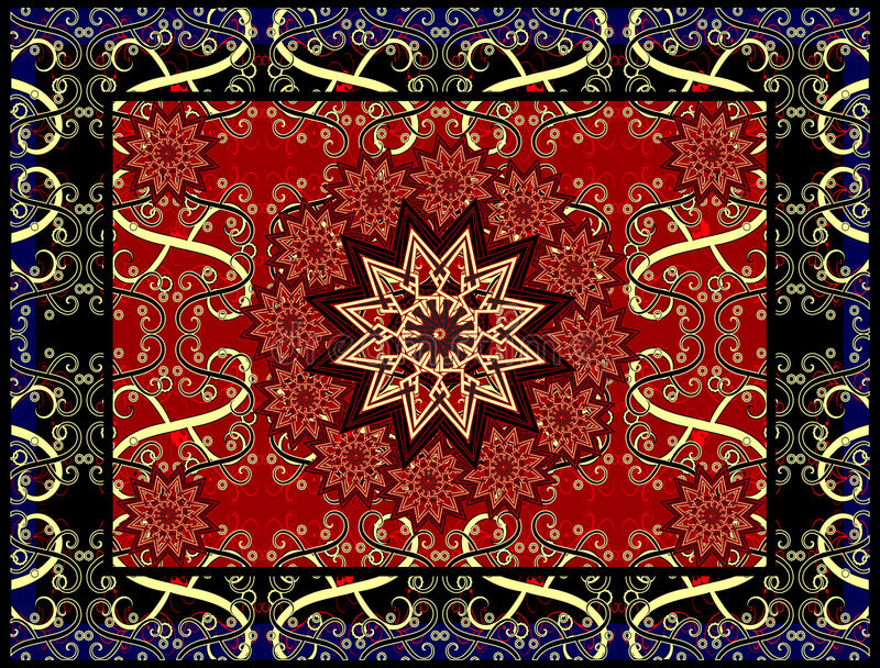 Vector carpet royalty free illustration