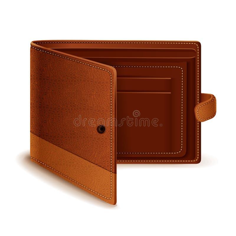 Vector a carteira de couro ilustração do vetor