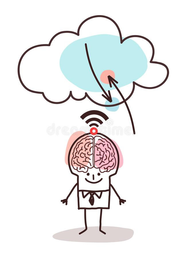Cartoon big brain man and cloud connexion stock vector download cartoon big brain man and cloud connexion stock vector illustration of application character thecheapjerseys Gallery