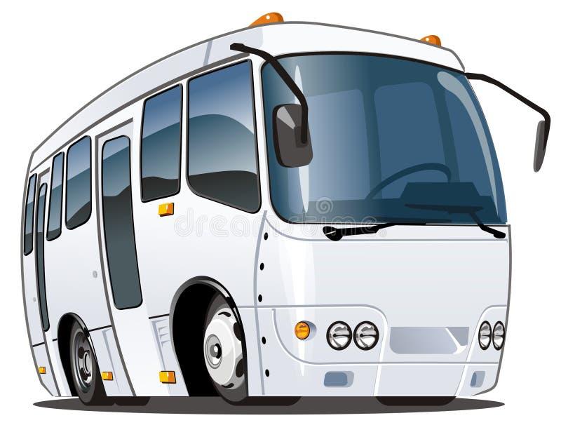Vector cartoon bus. Vector illustration cartoon urban/suburban mini-bus ISUZU - Bogdan isolated on white . Available AI-10 (separated by layers for easy editing
