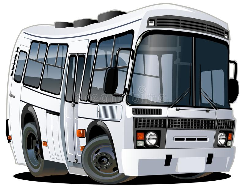 Vector cartoon bus one click repaint royalty free stock images