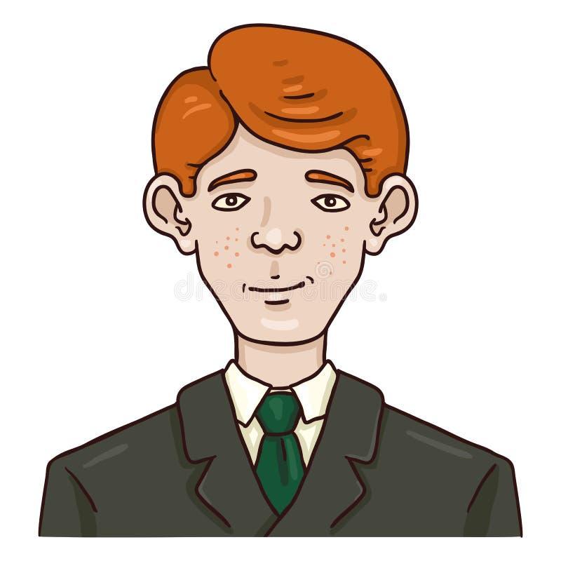 Cartoon character male redhead