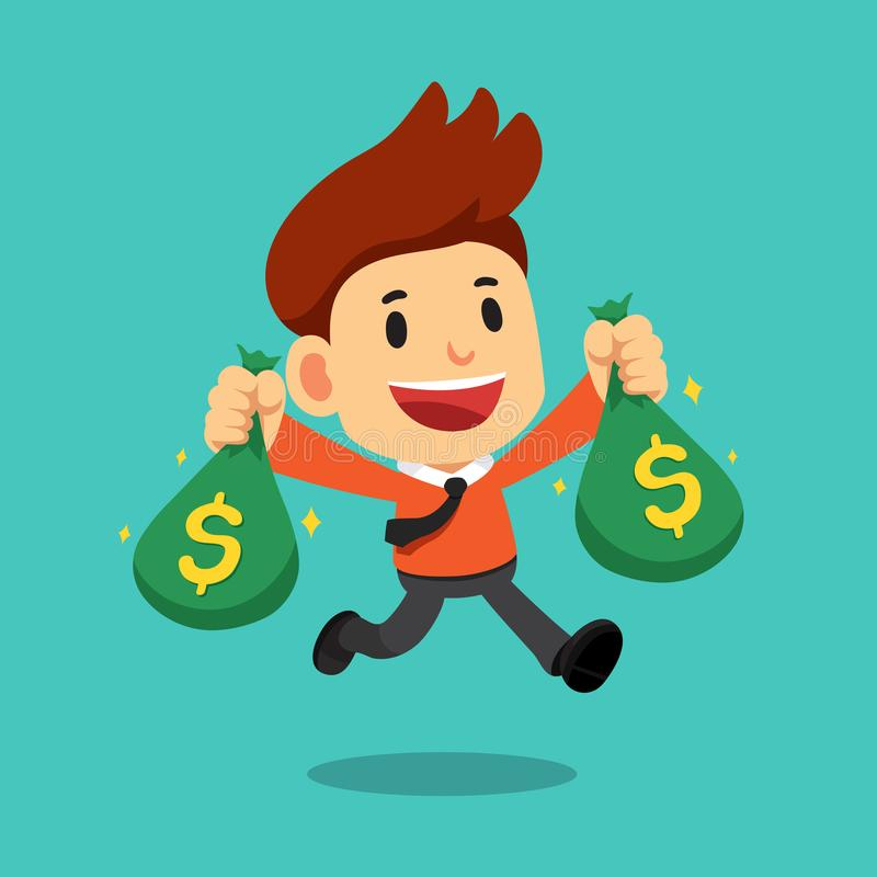 Free Vector Cartoon Businessman Holding A Pen And Completed Checklist On BoardVector Cartoon Businessman Holding Money Bags Stock Image - 119696561