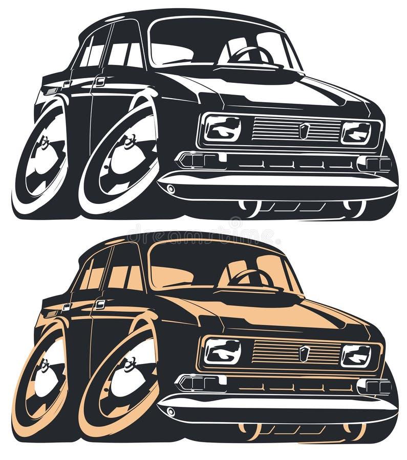 Vector cartoon car vector illustration