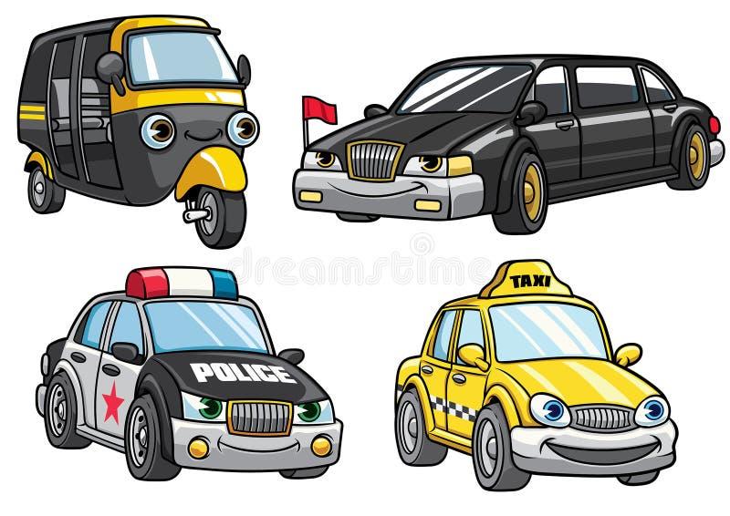 Cartoon of cars set stock illustration