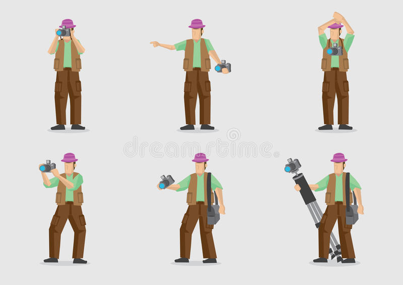 Vector Cartoon Character for Photography royalty free illustration