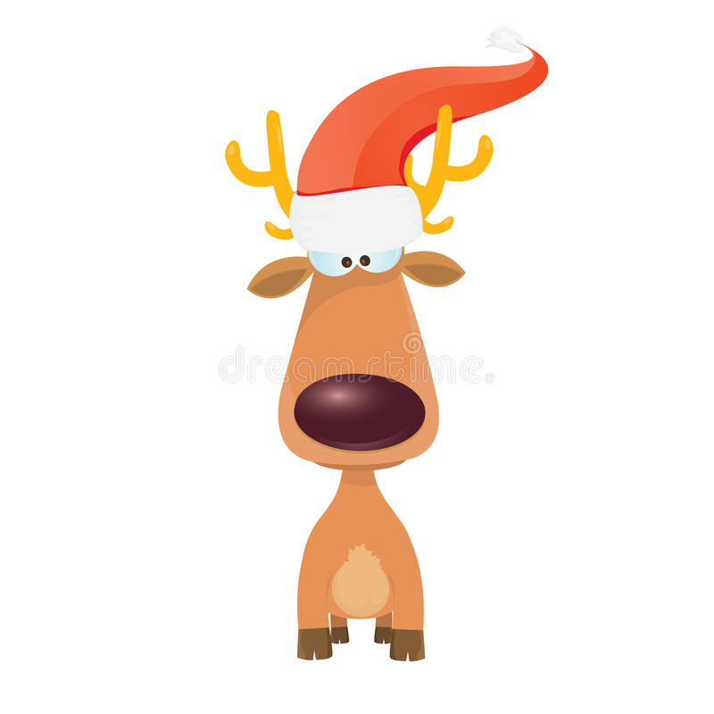 Vector cartoon Christmas reindeer character. vector illustration